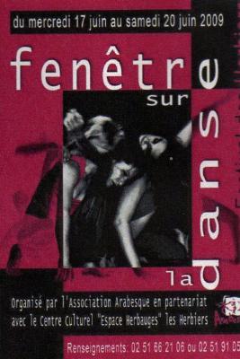 Arabesque Fenetre sur la danse 2009